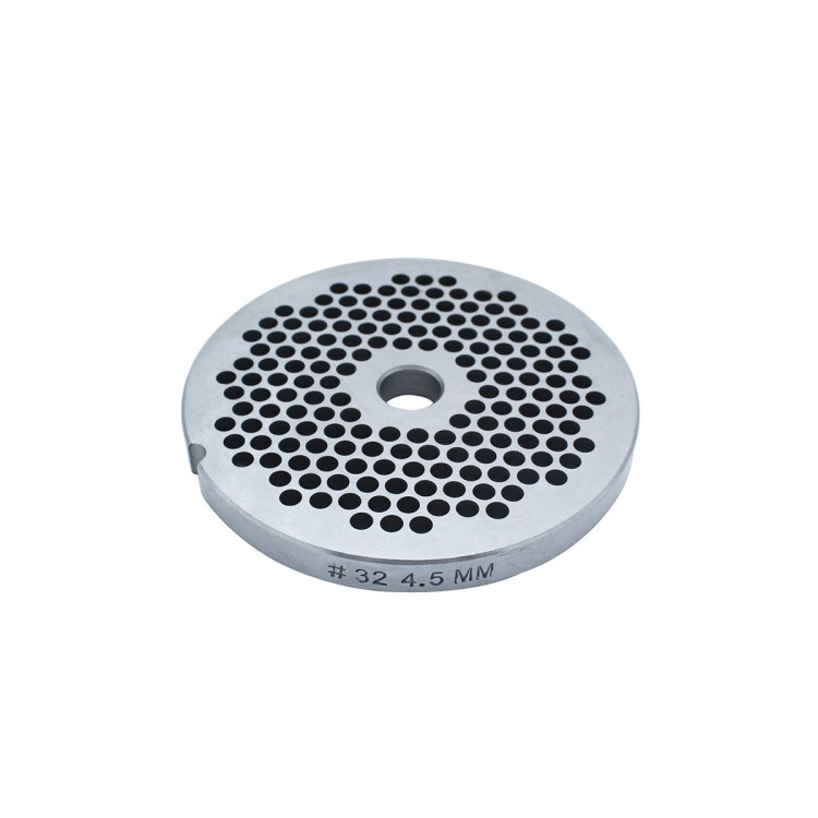 Paladin Equipment's #32 meat grinder includes a 4.5mm grinding plate.