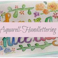 Karte: Aquarell-Handlettering