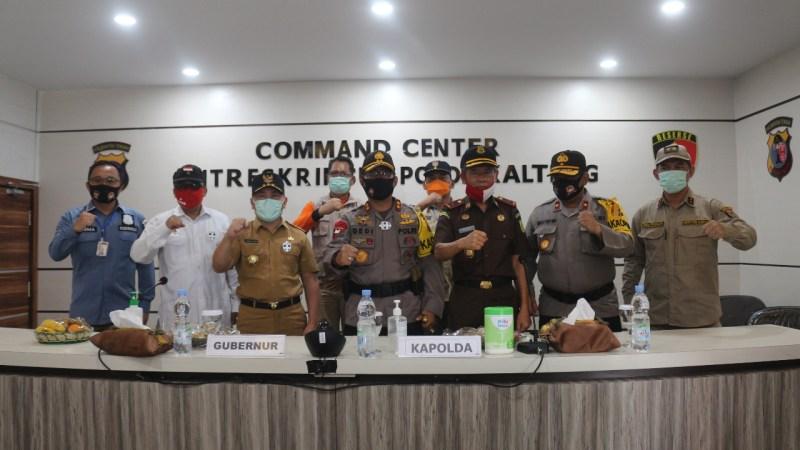 Gubernur dan Kapolda bersama Forkopimda Resmikan Command Center