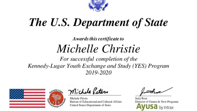 The U.S. Department Of State, SMAN 1 Palangka Raya Kalteng.