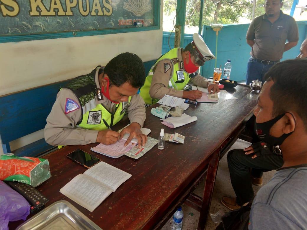 Operasi Patuh Perdana, Satlantas Polres Kapuas Jaring 20 Pelanggar Lalu Lintas