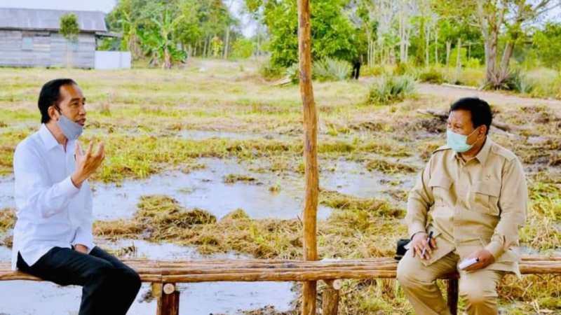 Presiden Joko Widodo dan Menhan Prabowo Subianto