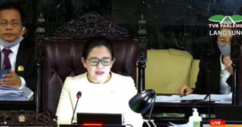 UU Corona Dari Perpu Disahkan DPR RI 8 Fraksi Setuju