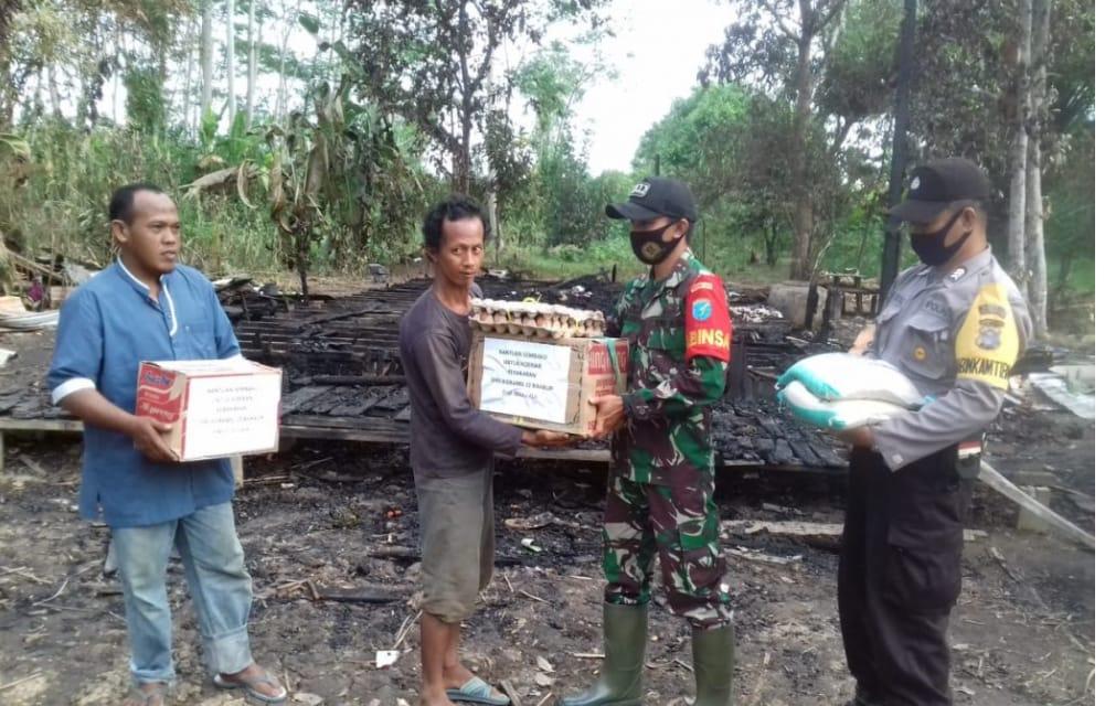 Bantu bencana Kebakaran Desa Tanjung Perawan