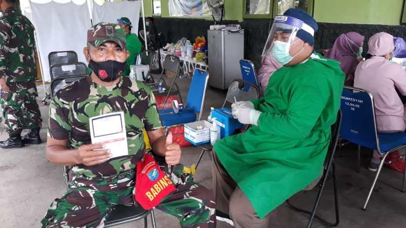 Vaksinasi Hari Kedua, Diikuti 60 Personil Dari Kodim 1016/Palangka Raya.