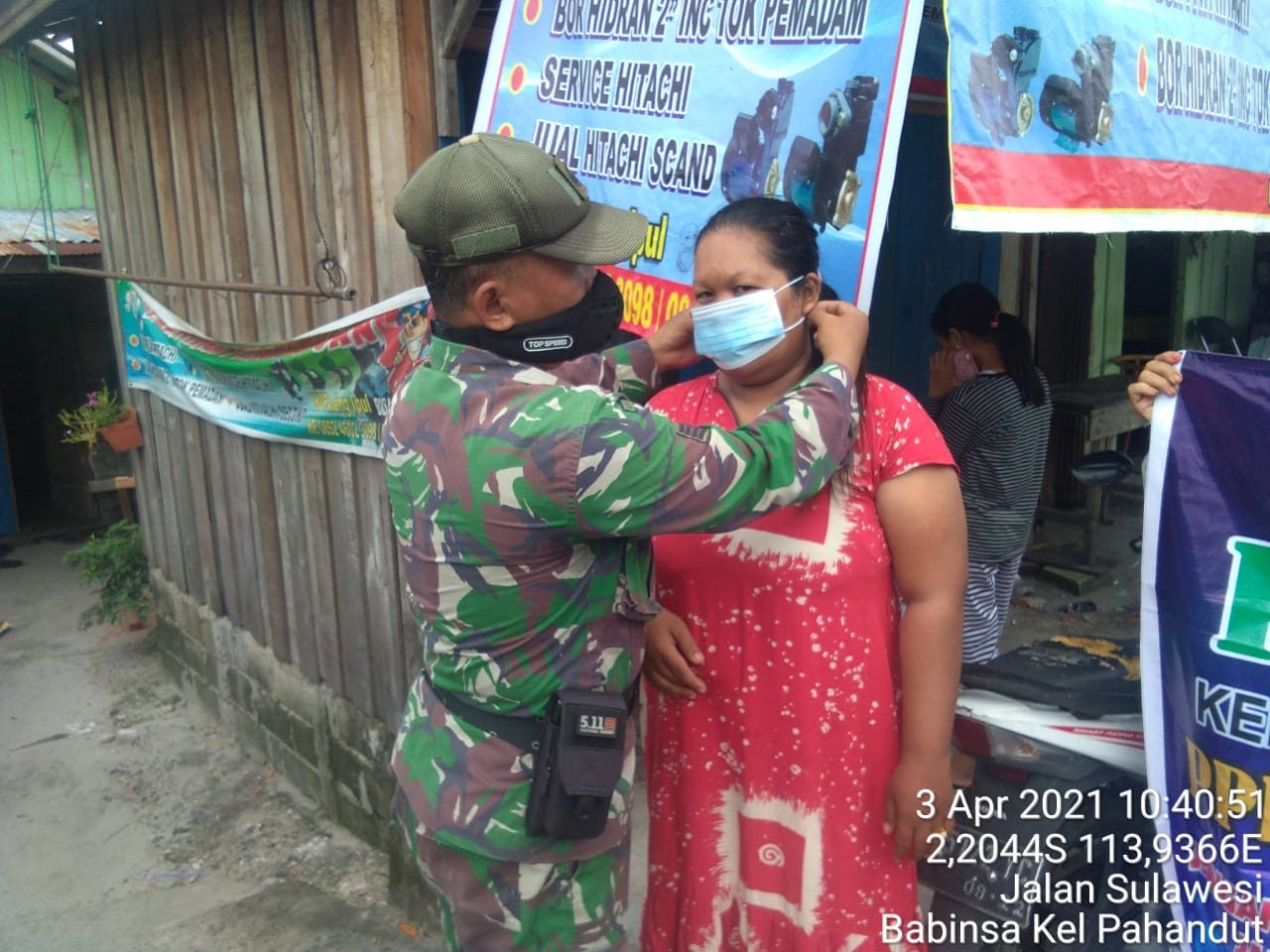 Babinsa Siap Menjadi Motivator PPKM Mikro Di Wilayah Binaan