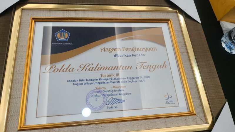 Polda Kalteng Raih Predikat Terbaik IKPA 2020 Tingkat Polda se-Indonesia