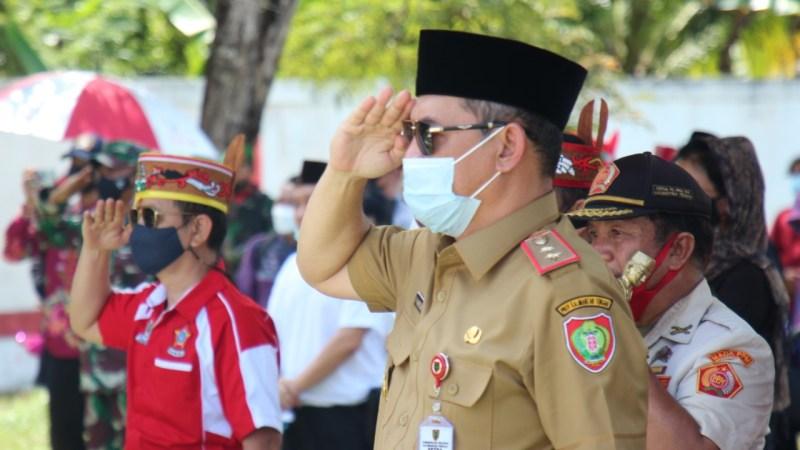 Perwakilan Pemprov Kalteng hadiri Pemakaman Sabran Ahmad di TMP Sanaman Lampang Palangka Raya