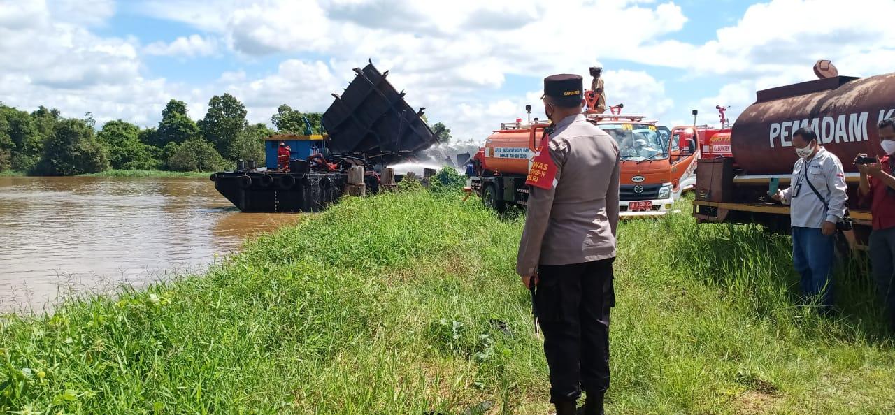 Musibah : Tongkang PT Korindo Meledak, 1 Orang Tewas