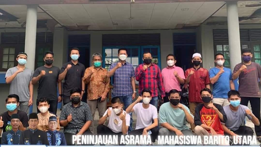 Kadis PUPR Perbaiki Pagar Asrama Mahasiswa Barut,