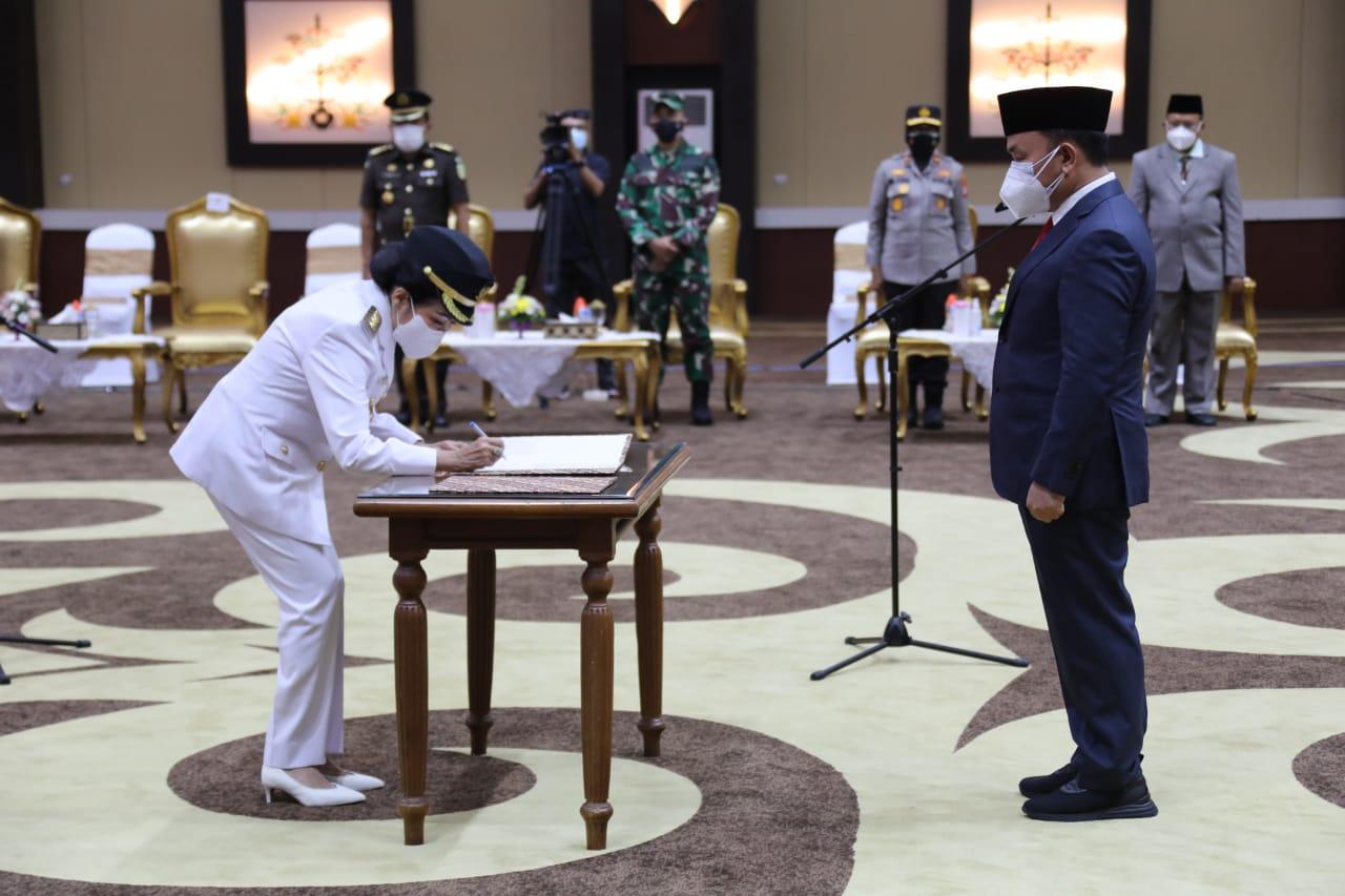 Gubernur Lantik Bupati Pulang Pisau Sisa Masa Jabatan 2018-2023