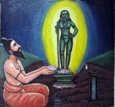Bhogar, A Siddha worshiping Dandayuthapani