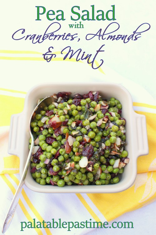 Pea Salad with Carnberries, Almonds and Mint