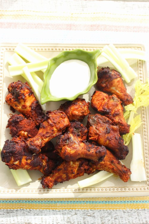 Dry Rub Smoked Buffalo Chicken Wings