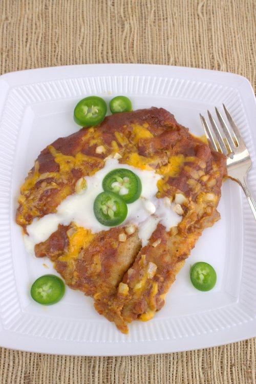 Cheese Enchiladas Rojas