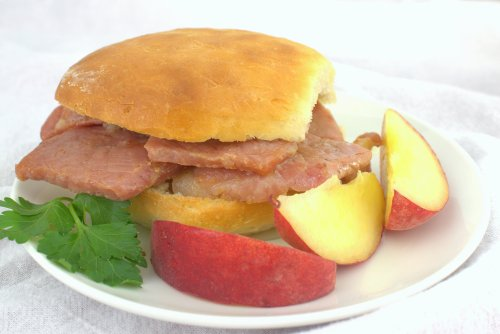 Country Ham Biscuits with Peach Mustard