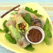 Grilled Hoisin Chicken and Asparagus Summer Rolls