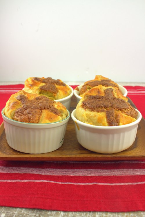 Goat Cheese and Asparagus Breakfast Souffle