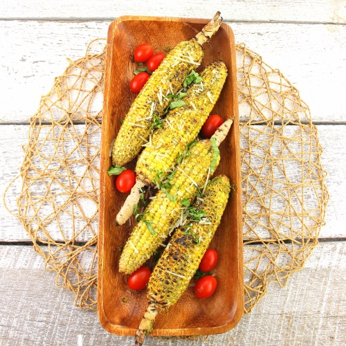 Basil Pesto Grilled Corn