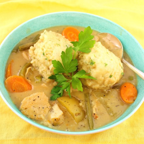 Chicken Stew with Parsley Dumplings