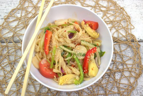 Heart to Heart Asian Noodle Salad