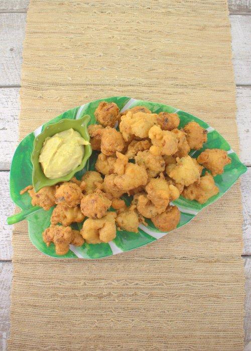 Bacalaitos with Curry Aioli