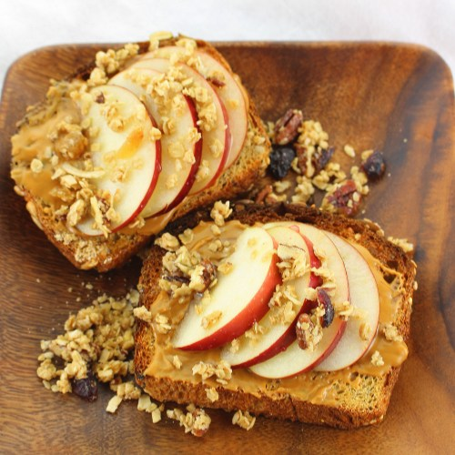 Apple Granola Cookie Butter Toast
