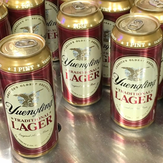 Yuengling beer cans