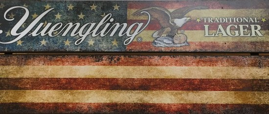 Yuengling flag sign
