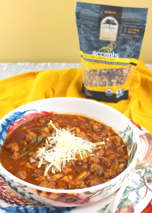 Meatball and Lentil Minestrone Soup