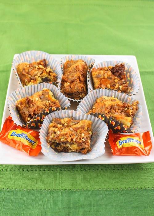 Butterfinger Crunch Cookie Bars