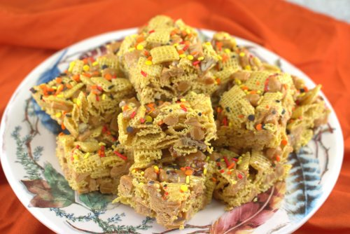 Caramel Apple Cereal Bars