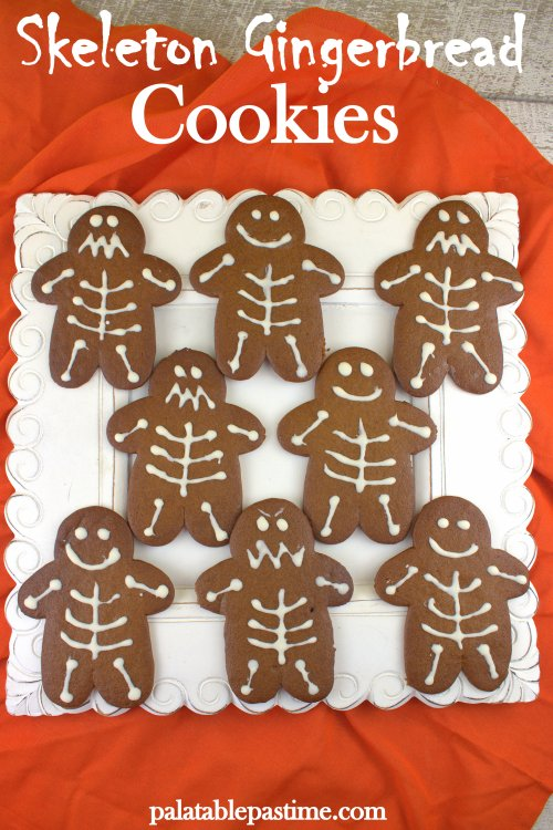 Skeleton Gingerbread Cookies