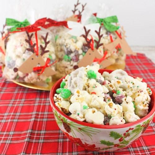 Reindeer Crunch White Chocolate Popcorn
