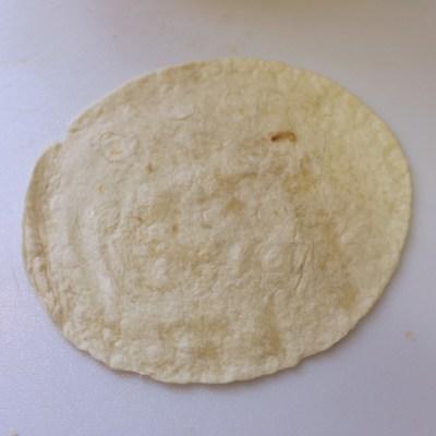 Start with a soft flour tortilla