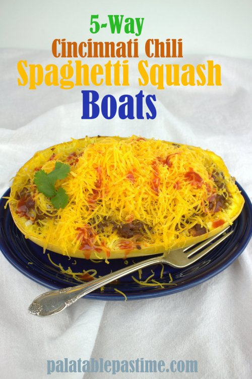 5-Way Cincinnati Chili Spaghetti Squash Boats