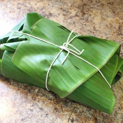 Pork wrapped in banana leaves