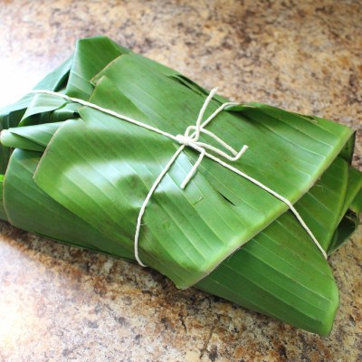 Pork wrapped in banana leaves