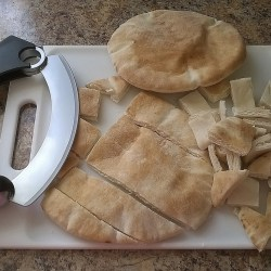 Cutting Pita Bread