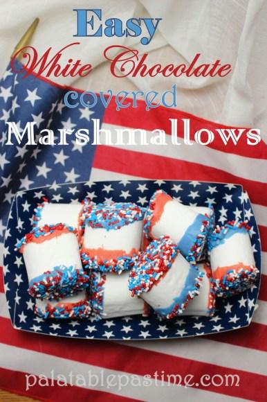 Easy White Chocolate Covered Marshmallows #SundaySupper