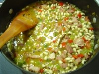 peas cooking