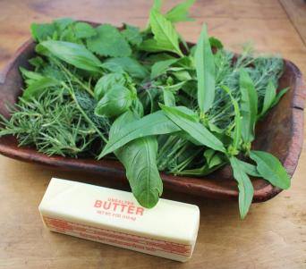 Butter and Fresh Herbs