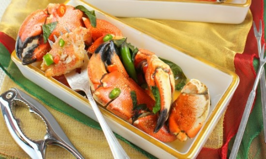Crab Claws in Red Curry