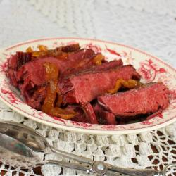 Crock Pot Glazed Corned Beef Brisket