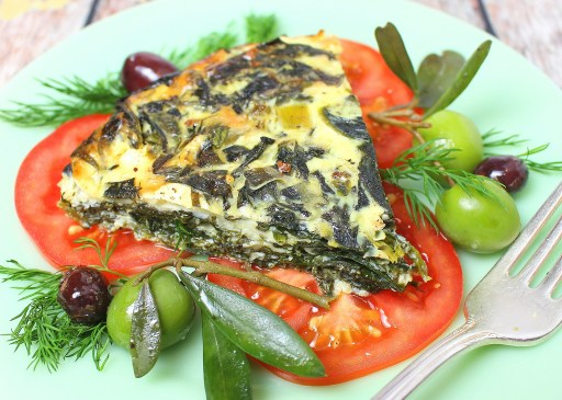 Crustless Greek Spinach Pie
