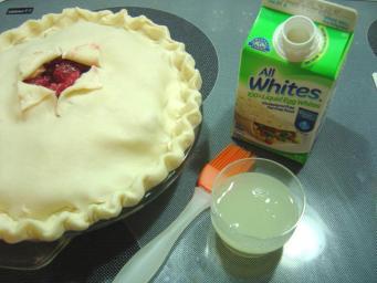 Egg white for brushing top of pie