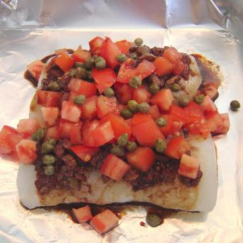 Fish with topping