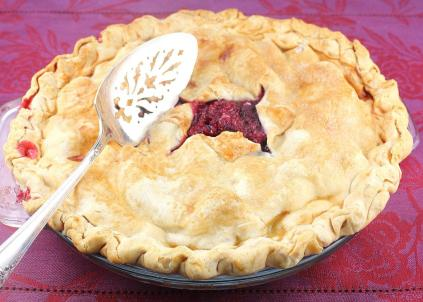Whole Fresh Raspberry Pie