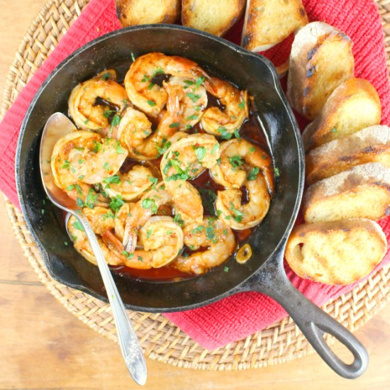 Gambas al Ajillo ~ Spanish Garlic Shrimp Tapas