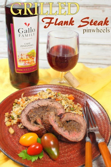 Grilled Flank Steak Pinwheels #GalloFamily #SundaySupper
